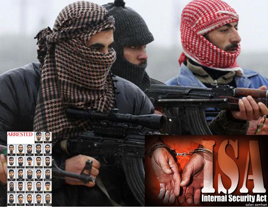 terrorists held under ISA since 2001
