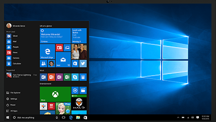 Windows updates including free WIndows 10