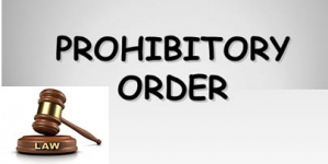 Prohibitory Order – law reference