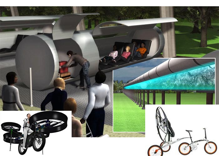 The Evacuated Travel Tube and Flying Bicycle
