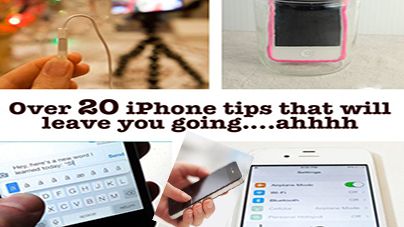 Over 20 iPhone tips