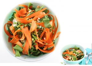 Mixed Pak Choy Carrots Salad